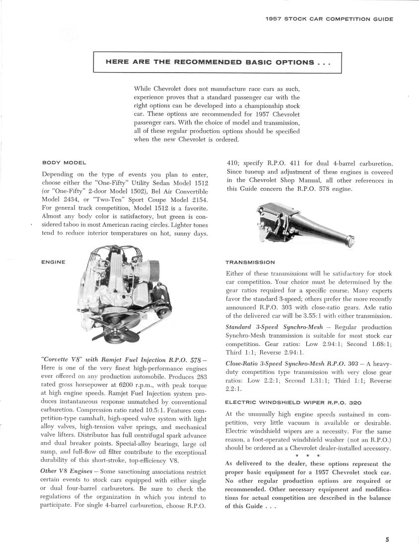 The 1957 Chevrolet Stock Car Competition Guide Macs Motor City Garage Chevy Windshield Wiper Wiring Diagram Tuning Each Image In Gallery Below Is A Booklet Page Click Once To Open Again Enlarge Right Save Or Print
